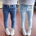 2016 Nuevo Estilo de Pantalones Vaqueros de Las Muchachas Niños Ropa De Invierno de Las Muchachas Pantalones de Los Niños Pantalones Vaqueros de Cintura Elástica Pantalones Vaqueros de Moda Para El Bebé