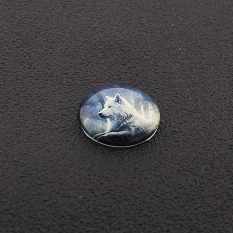 JWEIJIAO al por mayor 5 uds Cristal de cabuchón animal diablo globos oculares patrones domo de cristal DIY pendientes llavero encontrar joyas