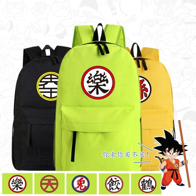 04487371c70 Snoep Kleur Anime Dragon Ball Z GoKu Master Roshi Saiyan Cosplay Printing  Canvas Schooltassen voor Tieners