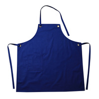 Womens Aprons Chef Apron Solid Color Working Apron Hole Ring Pattern Cooking Bib Flower Shop Restaurant Supplies