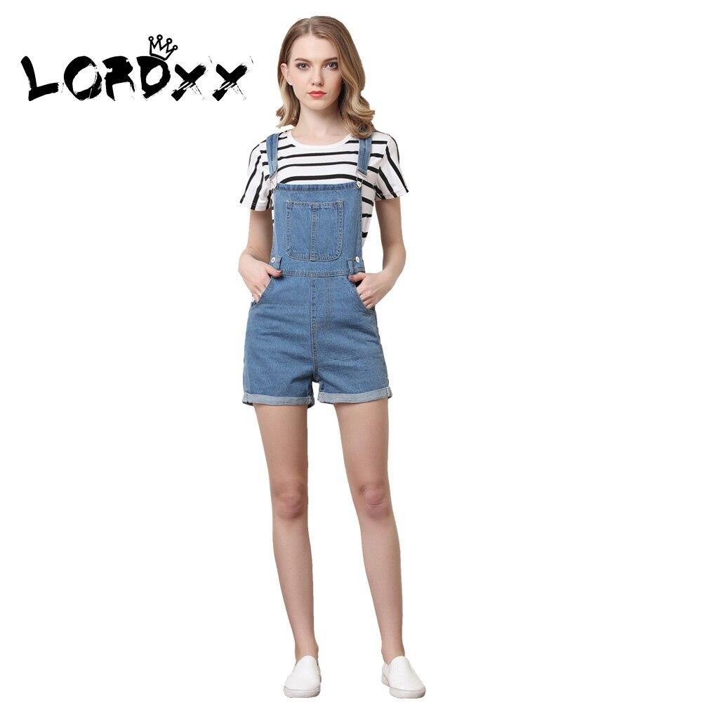 d43025a30fe8 LORDXX Denim Overalls Shorts Women Blue Summer Short Jumpsuits ...