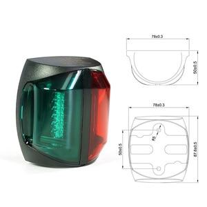 Image 2 - 12V Marine Boat Bi Color Light Red Green LED Navigator Lamp Boat Accessories