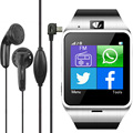 2016 gv18 bluetooth smart watch phone wearable dispositivos nfc gsmc amera Relógio de pulso SIM Smartwatch para Android Telefone PK GT08 M26