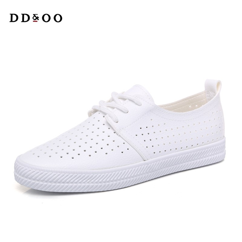 2017 summer new fashion women shoes casual flats PU leather mesh simple women casual girl soft white shoes sneakers free shipping 2017summer autumn new fashion women shoes casual flats solid breathable simple women casual white shoes sneakers