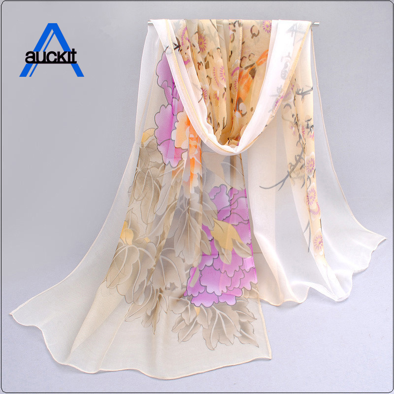 Fashion Vintage   Scarf   Women Lady Long Soft Chiffon   Scarf     Wrap   Shawl Stole Brand   Scarves   Fashion Accessories CA-24