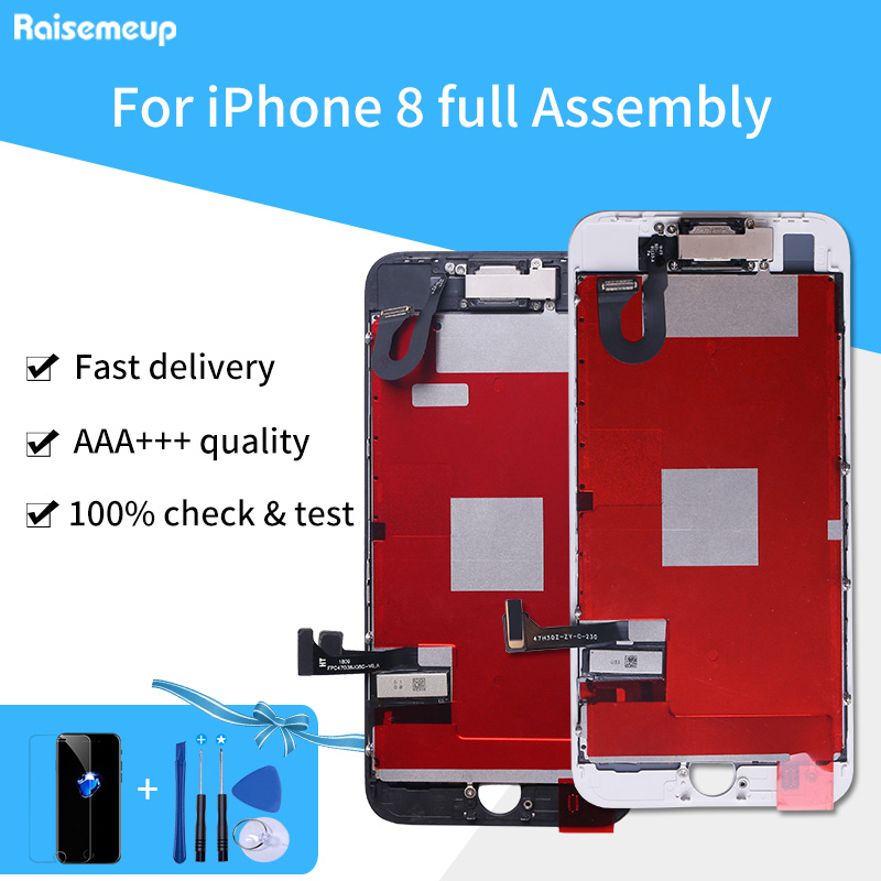 For iPhone 8  LCD Full Assembly Touch Screen Display Assembly Replacement Parts Front Camera with Free Tempered Glass+Tool setsFor iPhone 8  LCD Full Assembly Touch Screen Display Assembly Replacement Parts Front Camera with Free Tempered Glass+Tool sets