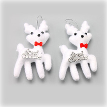 100pcs/lot Foam Deer Christmas Tree Decorations Hanging Bauble Merry Ornament Party Baubles Pendants 2PCS In One Bag