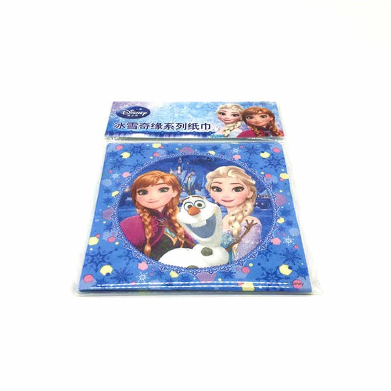 10 pcs de Alta Qualidade Elsa Disney Tema Congelado Imprimir Guardanapo Guardanapo de Casamento Festival Do Partido Do Evento Do Aniversário do Miúdo Decration Fornecimento