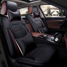 цена на Car Seat Covers leather automobiles accessories for ssangyong ssang yong actyon actyon korando kyron rextonof 2010 2009 2008
