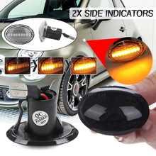 2 шт., динамические светодиодные, боковые, габаритные фонари, световой сигнал поворота, боковая лампа репитер 12 В, панельная лампа для Maserati дл...