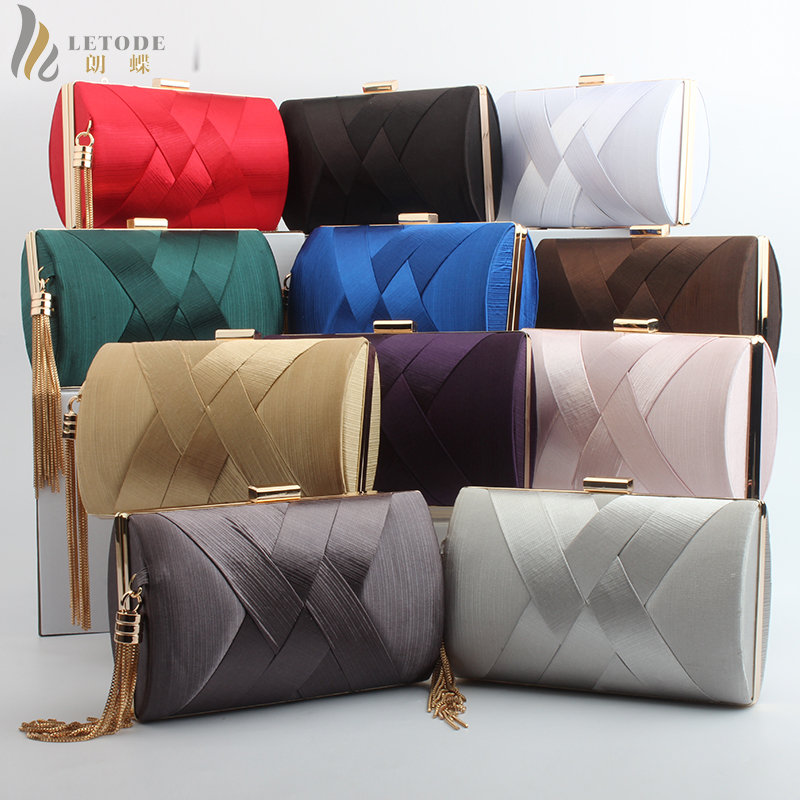 Womens Bags Purse Wallet Clutch Crossbody-Bags Wedding-Pouch Tassel Evening-Bag Party-Shoulder