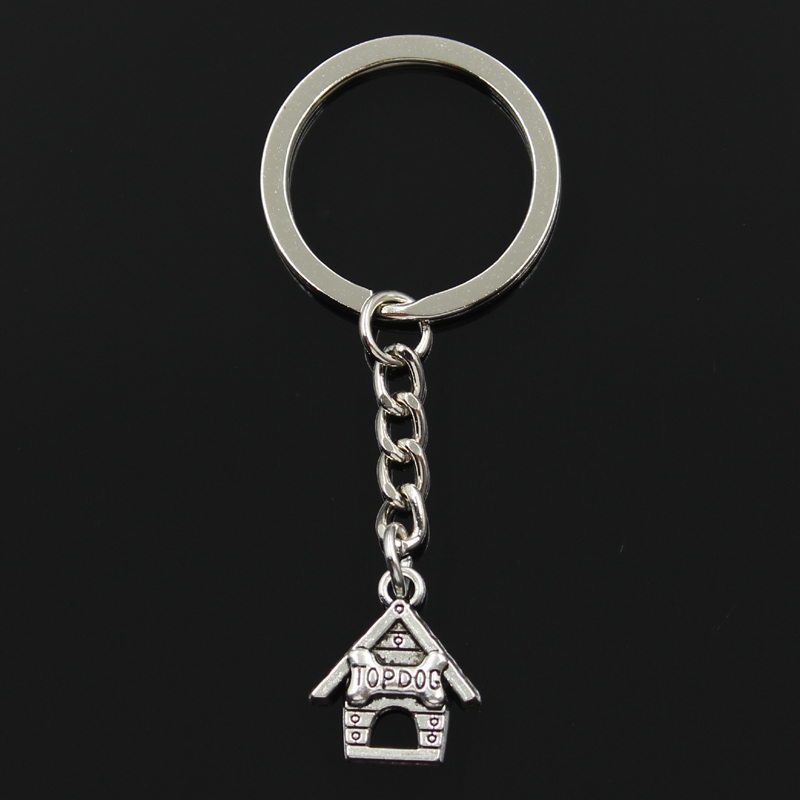 Keychain 20*17mm top dog house doghouse Pendants DIY Men Jewelry Car Key Chain Ring Holder Souvenir For Gift