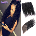 Indian Deep Wave Hair With Closure Unprocessed Indian Curly Virgin Hair Human Hair With Closure Indian Deep Curly With Closure