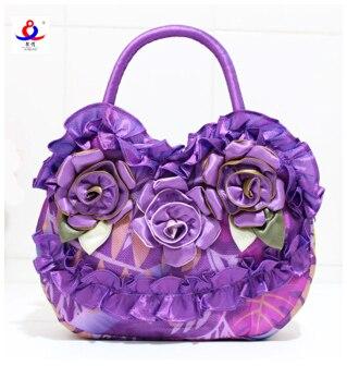 Для женщин сумка 2018 Новый Сумки Soft руководство Ruched мода стиральная Красота цветы женский ретро пляж ручная сумка известных брендов дизайн