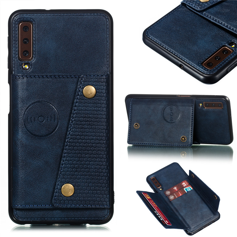 HTB1G5qTaRKw3KVjSZFOq6yrDVXaW Wallet PU Leather Stand Silicone Phone Case For Samsung Galaxy S8 S9 S10 Plus Note 10 A6 A7 J4 J6 Plus 2018 Card Slot Flip Cover