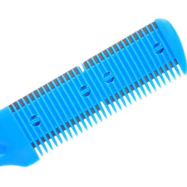 Moda nożyce fryzjerskie do włosów cięcie włosów tworzywo sztuczne nożyce fryzjerskie styl cięcia włosów magiczne ostrze grzebień narzędzie do strzyżenia grzywny 1D29