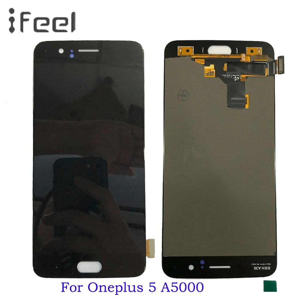 Écran Pour Oneplus 5 A5000 LCD Affichage à L'écran Tactile Pour Oneplus Cinq Digitizer Assemblée pièces De Rechange cadre