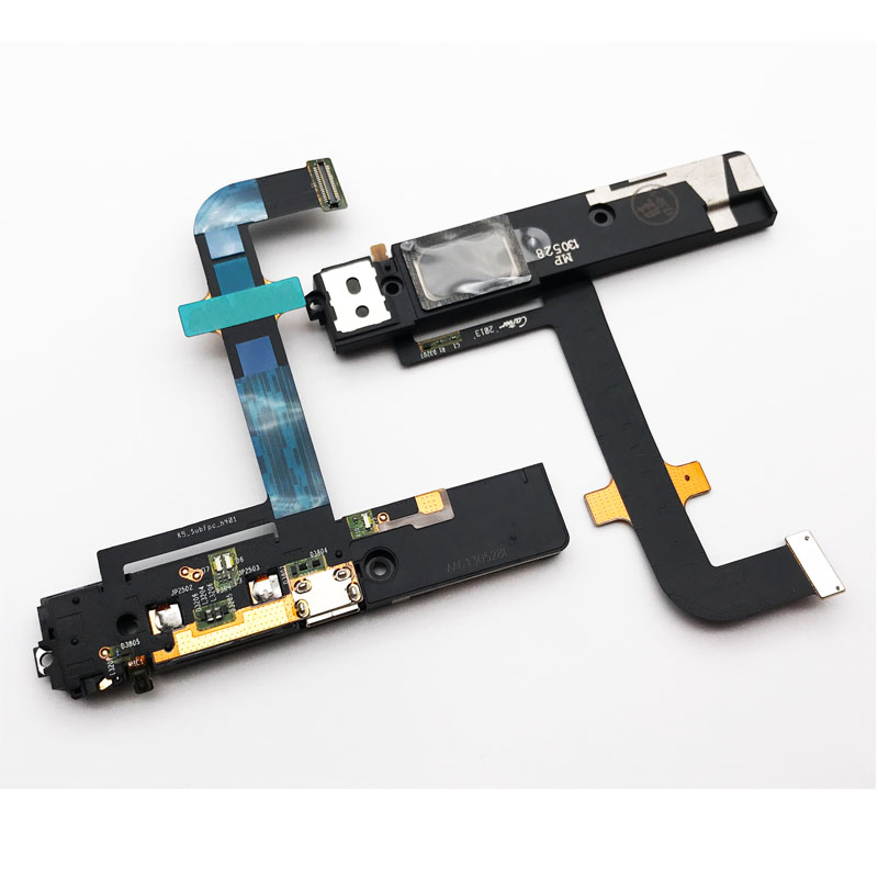 New Charger Connector Plug Board For Lenovo K900  USB Charging Dock Port Flex Ribbon + Microphone +Rear Loud Speaker