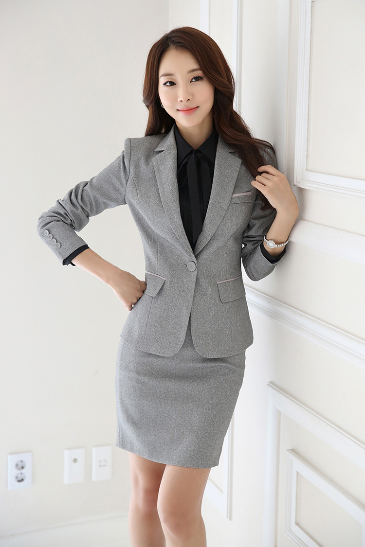 IZICFLY Spring Black Blazer Feminino Female Uniform Business Suits with Trouser Elegant Slim Office Suits for Women Clothing 4XL 64