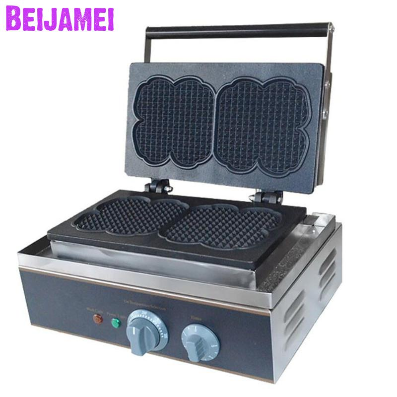 BEIJAMEI Stainless Steel Electric Commercial Lolly Muffin Baking Waffle Maker High Quality Crisp MachineBEIJAMEI Stainless Steel Electric Commercial Lolly Muffin Baking Waffle Maker High Quality Crisp Machine
