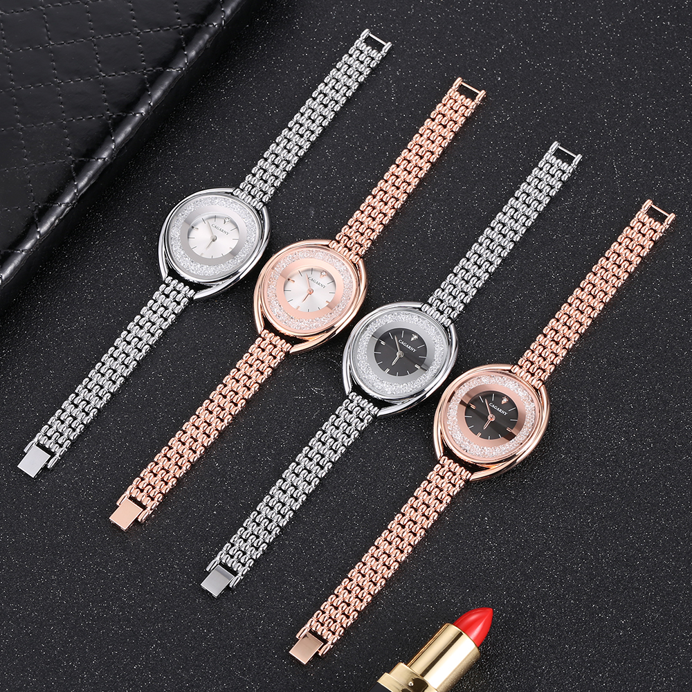 top luxury brand cagarny quartz watch women fashion ladies wristwatches crystal rose gold case creative design free shipping (6)