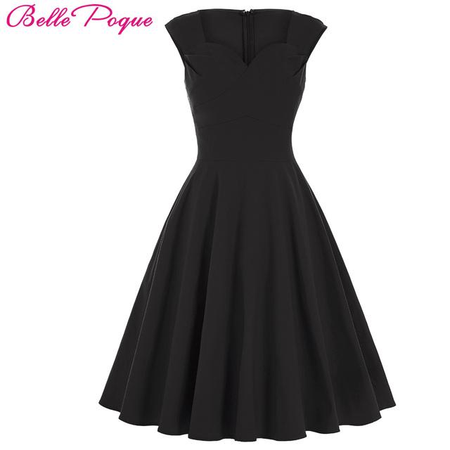 Belle Poque Summer Dress 2017 Robe Sexy Black Green Women Dress Tunic Casual 1950s 60s Retro Vintage Rockabilly Big Swing Dress
