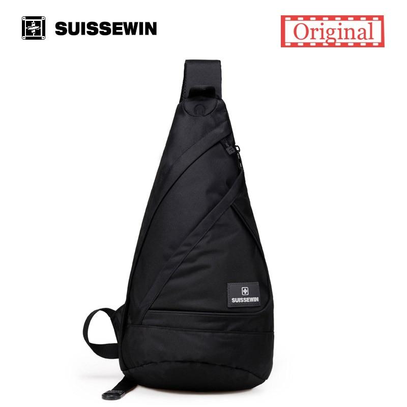 Suissewin fresco honda mochila crossbody del bolso de hombro masculino hombres m