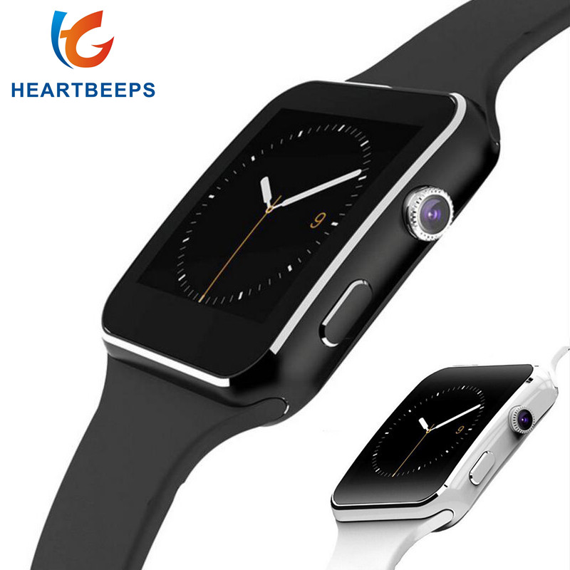 Heartbeeps Bluetooth Smart Watch X6 Sport Passometer Smartwatch with Camera Support SIM Card Whatsapp Facebook for