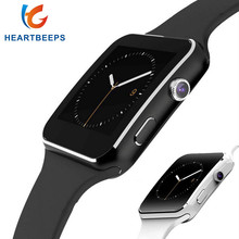 Heartbeeps Bluetooth Smart Watch X6 Спорт Шагомер Smartwatch с камера Поддержка SIM WhatsApp Facebook для телефона Android