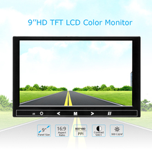 Car Monitor 9 inch TFT LCD monitor For Rear View Reverse Camera Mini TV Computer Display Mirror Link Android Iphone