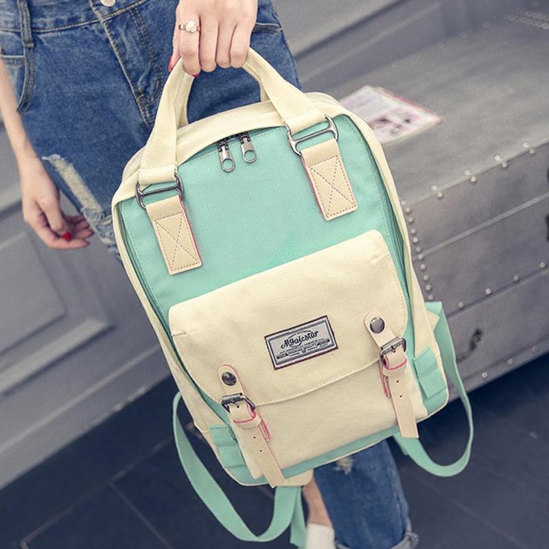 Prix pour 2017 mode femmes toile sac à dos féminin sacs d'école pour les adolescents sac à dos féminin à dos H463