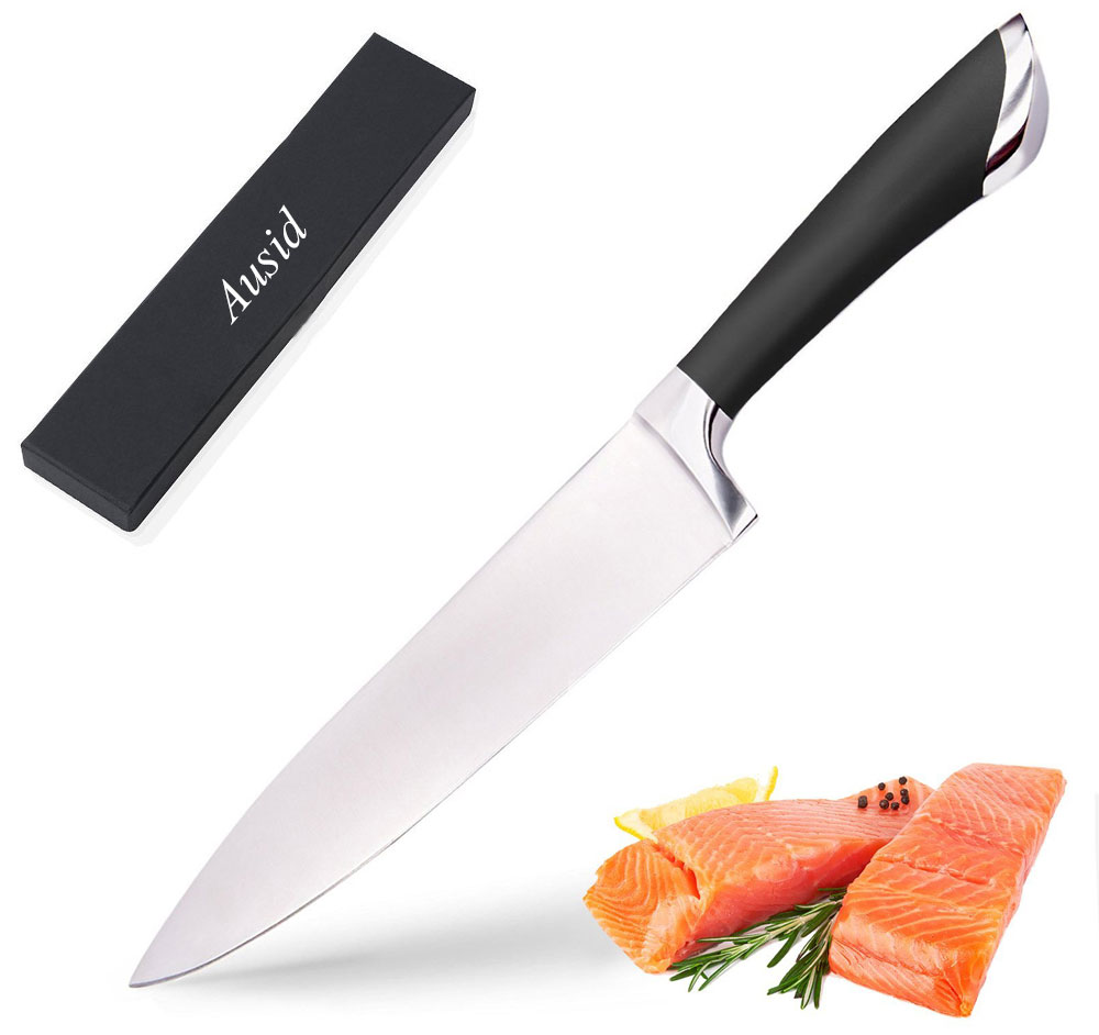 pro kitchen knives ausid chef knife 8 quot professional kitchen knives 3cr14 sharp stainless steel blade for sashimi 1664