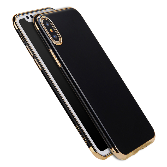 huge selection of bcc4a fb091 US $9.85 |Sulada Case for iPhone X Luxury Fashion Plating Soft TPU Plastic  Case for apple iPhone X Mobile Phone Shell Back Cover Coque New-in Fitted  ...