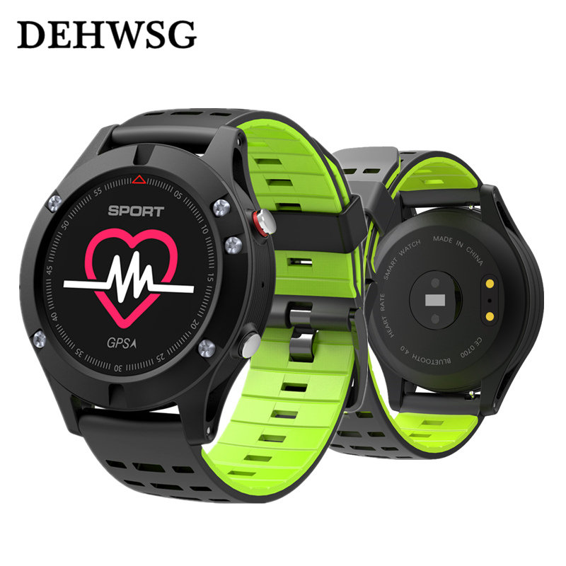 F5 GPS Smart watch heart rate monitor Altimeter Barometer Thermometer Bluetooth 4.2 Smartwatch Wearable devices For iOS Android interpad smart watch professional sports algorithm altimeter thermometer smartwatch heart rate monitor smart watch for xiaomi