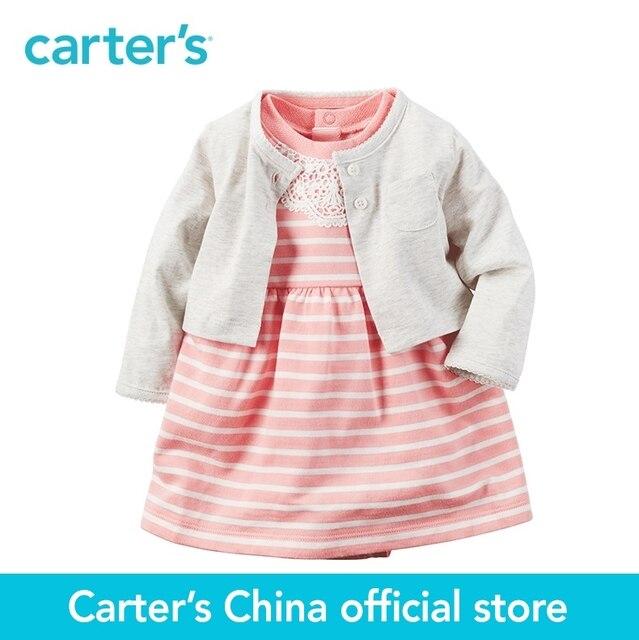 Carters 2 stücke baby kinder kinder 2 teilige Body Kleid & Cardigan ...