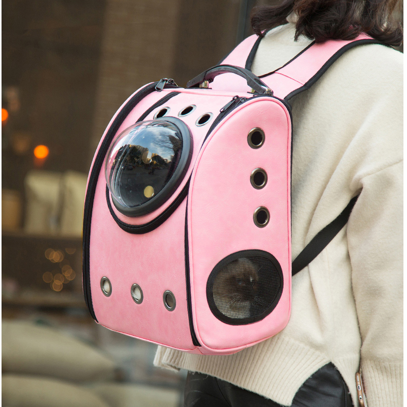 La capsule sac de transport pour animaux chat respirant en plein air portable sac d'emballage dasyure animaux chiot voyage sac à dos pour chiens transporteur