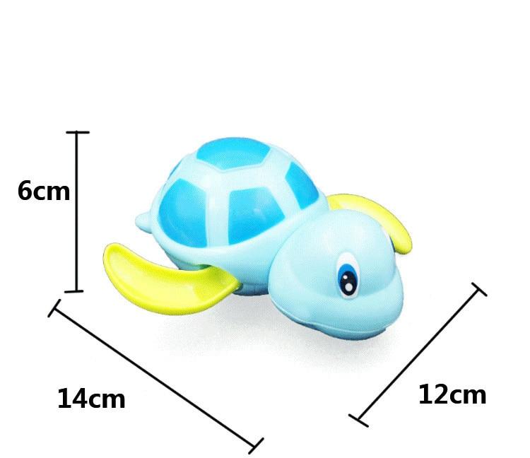 Single Sale Cute Cartoon Animal Tortoise Classic Baby Water Toy Infant Swim Turtle Wound-up Chain Clockwork Kids Beach Bath Toys 6