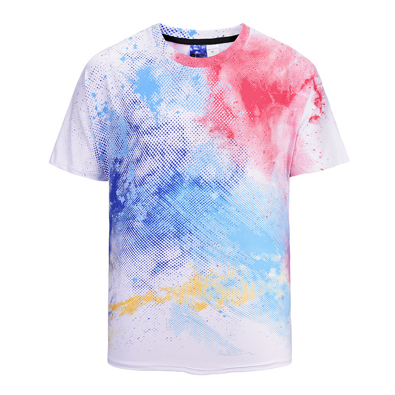 2018 new men's fashion tshirts Summer tshirt round neck Color funny 3d printed t-shirts mens clothing men short sleeve