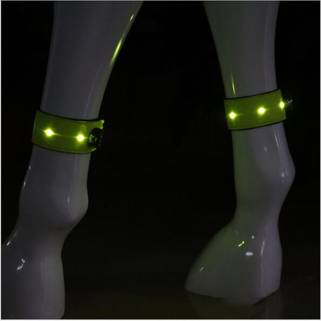LED 32*5.1cm Horse Equipment Legging Night Visible Horse Riding Accessory Durable Luminous Belt Outdoor Safety Warning Belt