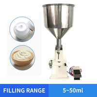 OLOEY 5~50ml Pneumatic Filling Machine for Cream & Shampoo & Cosmetic with foot pedal A02