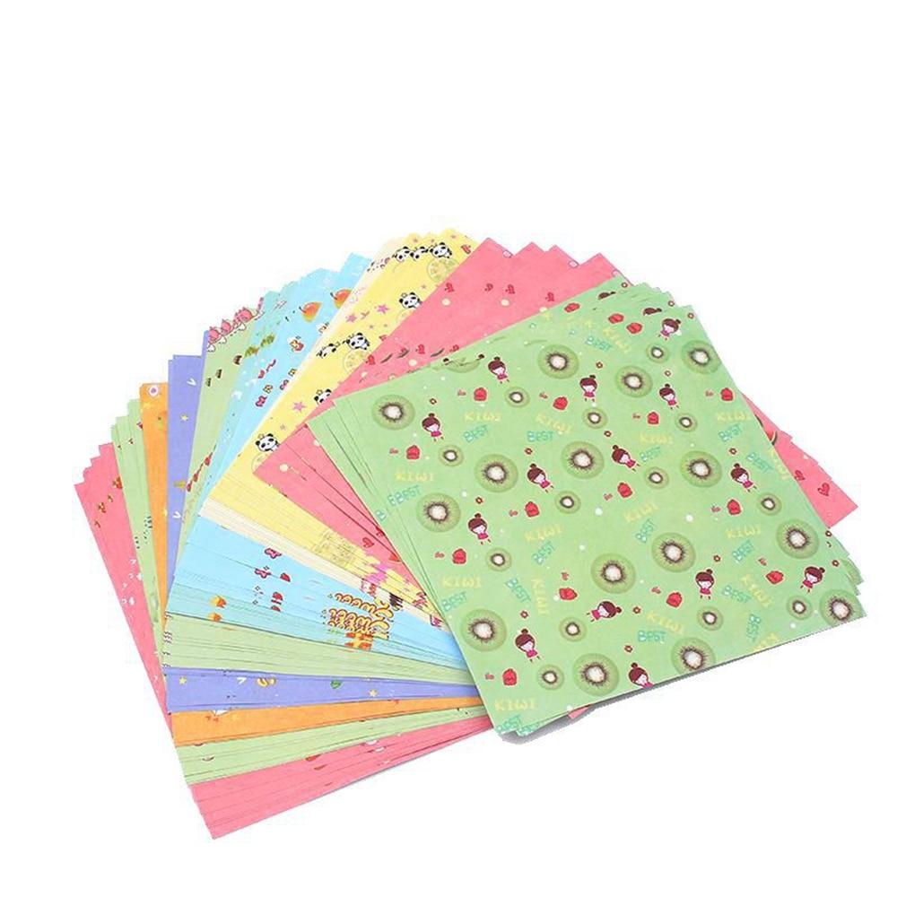 Cute 72PCS/SET Square Floral Pattern Origami Paper Single Sided DIY Kids Folded Paper Craft Scrapbooking Decor Pattern Randomly