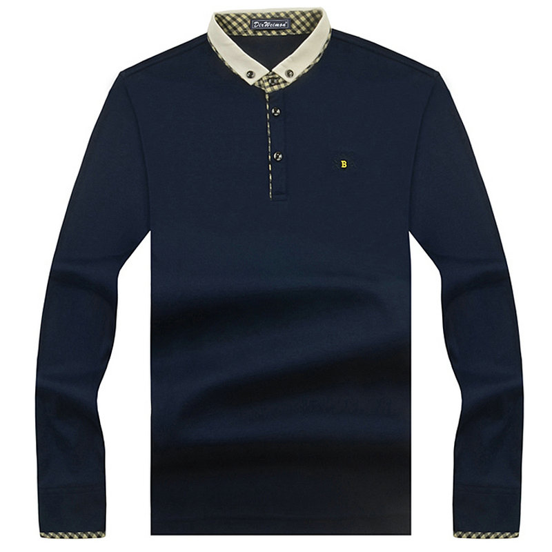 2019 New Arrival Fashion Brand   Polo   Shirts Long Sleeve Men's Spring Slim Shirt Cotton Casual Tee Shirts Men Plus Size S-10XL
