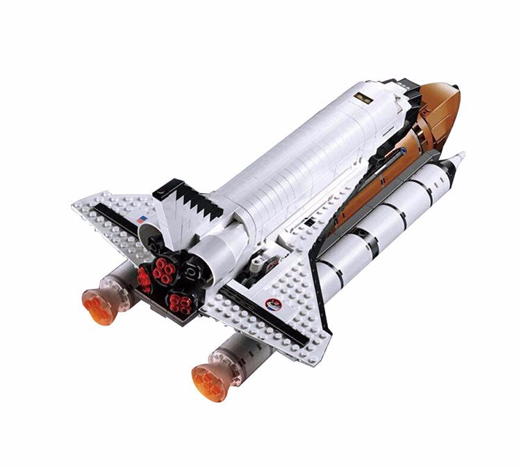 1230Pcs Space Shuttle Expedition Model Building Kit Block 1230Pcs Bricks Toys Compatible Legoings City 10231