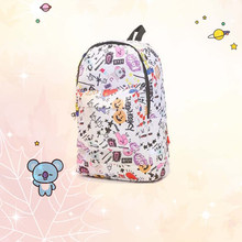 Cartoon Canvas Backpack Kpop Bts Bangtan Boys Korean Style bt21 Students Fashion Soft Fabric Leisure Kawaii ARMY Fans Gifts(China)