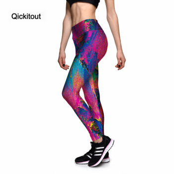 e9f67058215cc3 Qickitout Leggings Sexy Women's Pretty Color Abstract Painting 3D Print  PANTS Women High Waist Pants Trousers