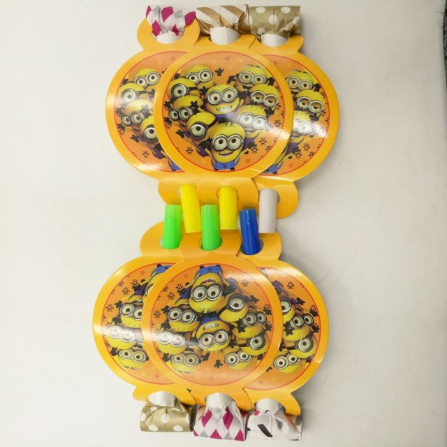6Pcs Minions Party Supplies Funny Whistles