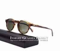 HOT Vintage Men And Women Sunglasses Famous Brand Ov 5186 Gregory Peck Polarized Sunglasses Round Glasses