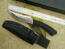 2016 Stainless steel fixed Blade knife matt K sheath Outdoor survival multi-purpose camping knife strange black Short knifes