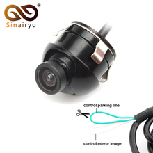 Sinairyu Wholesale 10pcs Auto Parking Camera, Mini Waterproof Normal Image CCD Car Front Camera With Mirror Image Convert Line