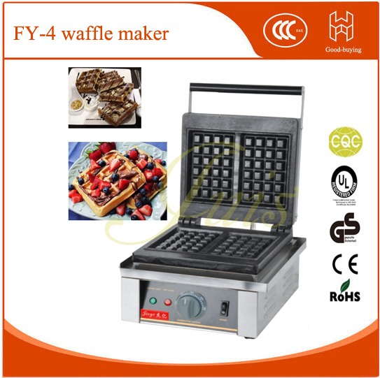New!JIEYI Non-Stick france  square restaurant machine cake cafe shop waffle maker
